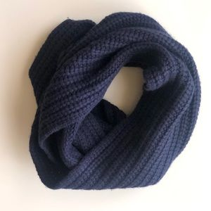 J. Crew navy blue cable knit infinity scarf